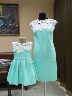 Mother Daughter matching Dresses mommy and me от AdelaidaStyle
