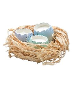 Take a look at this Cracked Egg Candle & Nest Set today!