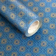 """Roll Gift Wrapping Paper Chrysanthemum Blue 20.8"""" x (L) 32Ft #Unbranded…"""