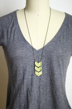 Geometric Gold Chevron Necklace  Minimalist
