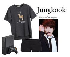 """""""Cuddling with JK"""" by effie-james ❤ liked on Polyvore featuring art, simple, kpop, korean, bts and jungkook"""