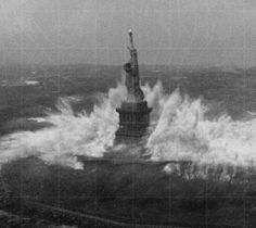 Statue of Liberty during Superstorm Sandy