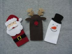 Felt Christmas Finger Puppets  FREE SHIPPING US by Tuscanycreative, $15.00