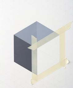 Tammi Campbell. Variations of incomplete Cubes. Acrylic on museumboard. 39,2 x 33 cm. 2015