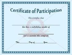 22 Best Certificate Of Participation Template Images