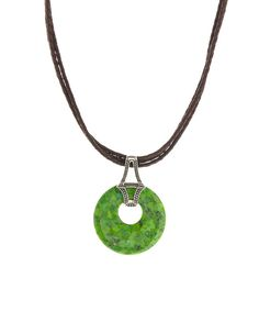 Look at this #Barse Green Turquoise & Sterling Silver Circle Pendant Necklace on #zulily today!