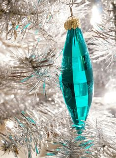 Blue holiday ornamen