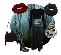 Dark Forest by arsenicwitch on Polyvore featuring polyvore fashion style Alexander McQueen Humble Chic Lime Crime clothing