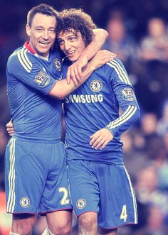 John Terry and David Luiz, Chelsea FC.