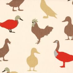 Cinnamon Cock-A-Leekie Curtain Fabric Printed Curtains, Workspace Inspiration, Fabric Samples, Curtain Fabric, Pretty Cool, My Room, Printing On Fabric, Rooster, Chocolate Cream