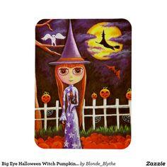 Big Eye Halloween Witch Pumpkins on Fence Owl