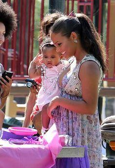 christina milian & baby violet