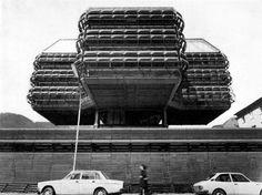 Research Centre in Leoben Leoben, Styria, Austria; Research Centre, Built Environment, Dark Side, Modern Architecture, Austria, Concrete, Exterior, Landscape, Building