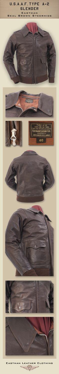 Eastman Leather Clothing - US Flight Jackets : USAAF Eastman Leather Jackets : A-2 Elc Ssh