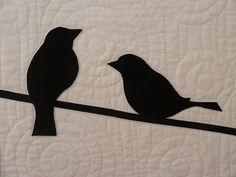 bird applique quilts | quilting - wool felt applique bird quilt | Flickr - Photo Sharing!