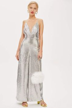 a9e0eed785c8 Silver Sequin Jumpsuit - Rompers   Jumpsuits - Clothing