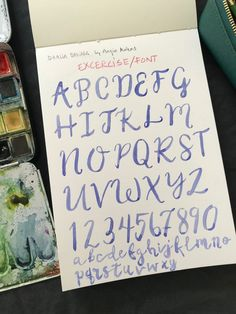 Lettering excercise