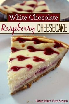 White Chocolate Raspberry Cheesecake on MyRecipeMagic.com   (Delicious and FOOLproof recipe, from Tastes Better From Scratch!) by roberta