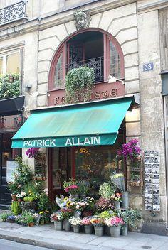 Paris Flower Shop by mollycat123, via Flickr