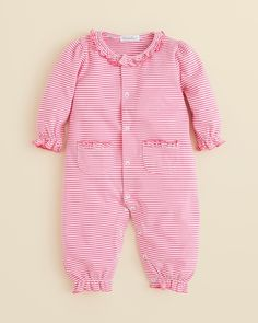 Kissy Kissy Infant Girls' Ministripe Playsuit - Sizes 0-9 Months #kissykissy #fashion #baby
