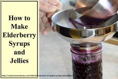 How to make Elderberry Syrup and Jellies from fresh or dried elderberries. Easy, homemade elderberry syrup recipes for fighting colds and flus.