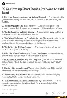10 short stories everyone should read