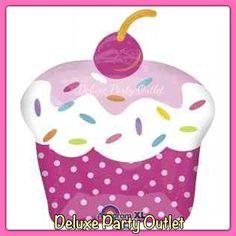 Cupcake Balloons- Globos disponibles en Deluxe Party Outlet.