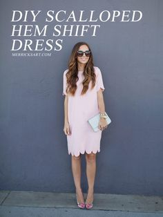 Merrick's Art // Style + Sewing for the Everyday Girl :  DIY FRIDAY: PINK SCALLOPED HEM DRESS SEWING TUTORIAL