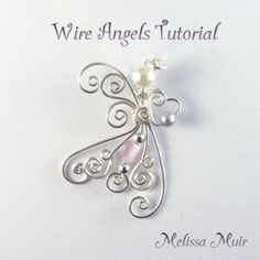 Wire Angels diy-jewelry-Not sure that this is a beginner's level project but it never hurts to try it! #wirejewelry