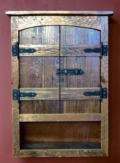 Arched Barnwood Toilet Cabinet — Barn Wood Furniture - Rustic Barnwood and Log Furniture By Vienna Woodworks Western Furniture, Primitive Furniture, Diy Pallet Furniture, Country Furniture, Furniture Projects, Wood Furniture, Living Room Furniture, Modern Furniture, Antique Furniture