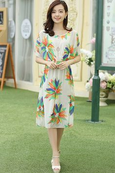 Fancy Floral Sleeveless Dress