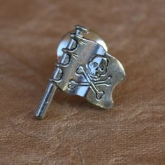 Your place to buy and sell all things handmade Skull Wedding, Skull And Crossbones, Lapel Pins, Tack, Pirates, Pewter, Antique Silver, Cufflinks, Plating