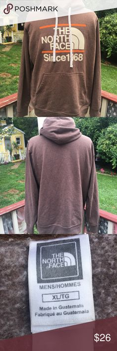 The North Face brown hoodie In EUC The North Face Shirts Sweatshirts & Hoodies