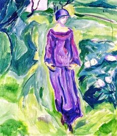 bofransson: Walking in the Garden Edvard Munch - 1930 Edgar Degas, Henri Matisse, Renoir, Wassily Kandinsky, Emil Nolde, Franz Marc, Famous Artwork, Paul Cezanne, Klimt