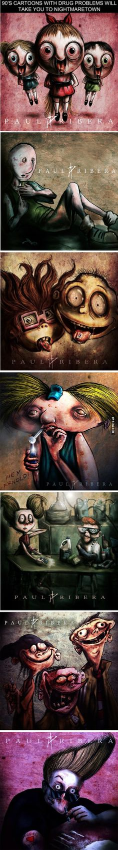 90's Cartoons With Drug Problems Will Take You to Nightmaretown - Just DWL || The Ultimate Trolling