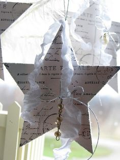 wooden stars. - great idea for any wooden shapes (MITTENS) using scrapbook or wrapping paper