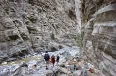 Beautiful natural erosion of the gorge created by the river and time, Samaria gorge, Crete