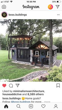 I know it's meant to be a tiny house for people to live in. But what about a tree house? She Sheds, Building A Shed, Tiny House Living, Tiny House Design, House Goals, Little Houses, Play Houses, My Dream Home, Future House