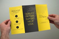Creative Trifold Brochure by bouncy on Creative Market 3 Fold Brochure, Brochure Template, Brochure Size, Brochure Ideas, Doodle Pictures, Graphic Design Brochure, Find Fonts, Leaflet Design, Program Design
