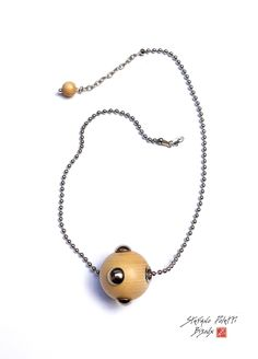 "Collection ""Mina"" H0794-COLLIER-1B-BOIS #collectionmina #mina #stefanopoletti #bijoux #wood #metal"