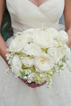 hydreadia bouquet | White-Peony-Hydrangea-Bouquet - Elizabeth Anne Designs: The Wedding ...