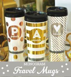 Gobelets de café sont le cadeau personnalisé idéal pour les enseignants - ils vous apprécierez tous les matins sur leur façon de travailler ! Tasses de voyage personnalisées ont un coeur ou un monogramme sur chaque tasse. Choisissez vos professeurs nom initial et personnalisé à imprimer sur les tasses en métal or, argent ou or rose. Tasses à café sont faites dacrylique et vous pouvez choisir davoir un pois ou rayures. Également choisir un de 3 feuilles de différentes couleurs pour…