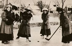 Beautiful photo of vintage #womenshockey. I wonder if these fabulous ladies are still alive today