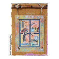 Crafty Individuals CI-278 - 'Beside the Seaside' Art Rubber Stamps, 96mm x 137mm - Crafty Individuals from Crafty Individuals UK