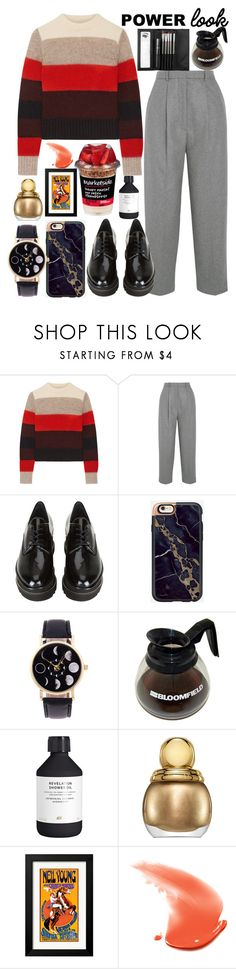 """power look"" by maynarovich ❤ liked on Polyvore featuring rag & bone, Acne Studios, Stuart Weitzman, H&M, Christian Dior, Sephora Collection and bymeganfox69"
