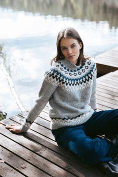Fair Isle Knitting, Free Knitting, Lace Patterns, Mosaic Patterns, Pattern Design, Free Pattern, Icelandic Sweaters, Nordic Sweater, Sweater Knitting Patterns