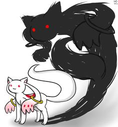 Cute but demonic. That's Kyubey for you. :3