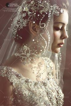 水晶主題禮服9代 #Wedding #bride #bridal #makeup #hair / http://molding.wswed.com/beautiful.html