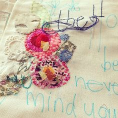 #thehouserules #libertyoflondonfabric #marnalunt #textileart #handstitched | by Marna Lunt