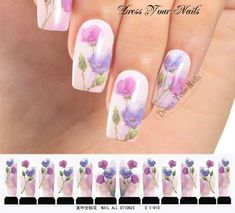 Water Decals - Poppy Nail Wrap Sticker Transfer  DIY Nail Stickers UK - C1-010